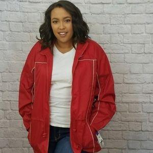 Reebok Jacket Windbreaker Red Vintage NEW XL NWT
